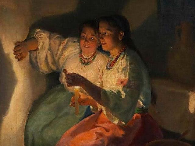 Н.К.Пимоненко (1862-1912) «Святочное гадание» В святочную неделю солнце поворачивается с…