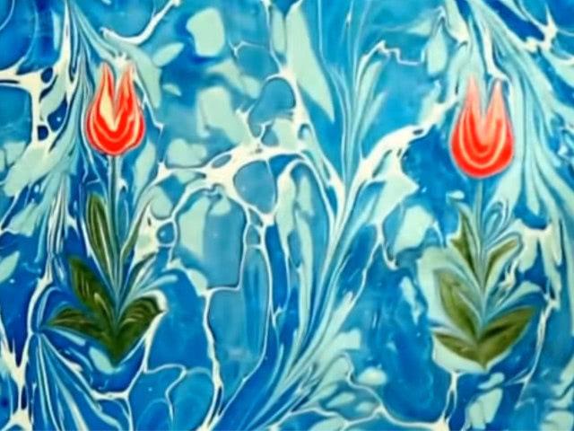 Эбру — рисование на воде для детей в домашних условиях