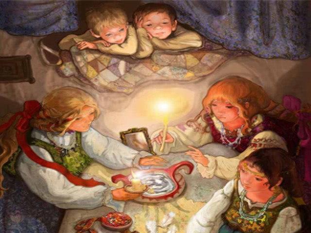 На Руси гадания проходили в святки, пред сном или ночью.…
