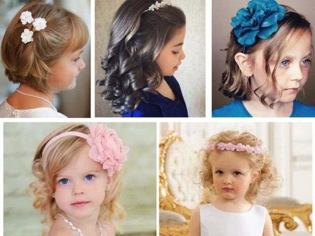 Прически на выпускной для девочек в детский сад на длинные, средние и короткие волосы, с челкой и без челки