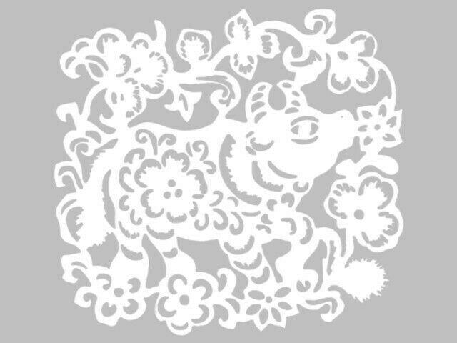 Вытынанки на Новый год 2021: шаблоны для распечатки (Бык, домики, Дед мороз и Снегурочка на вытынанках)