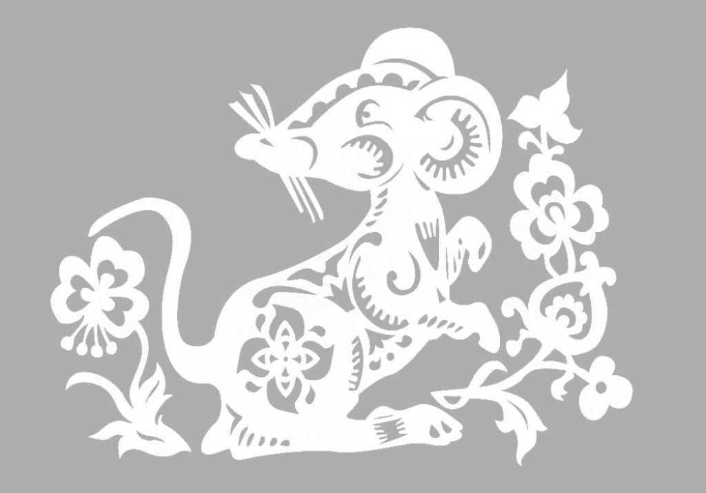 Вытынанки на Новый год 2020: шаблоны крысы и мыши скачать и распечатать-10