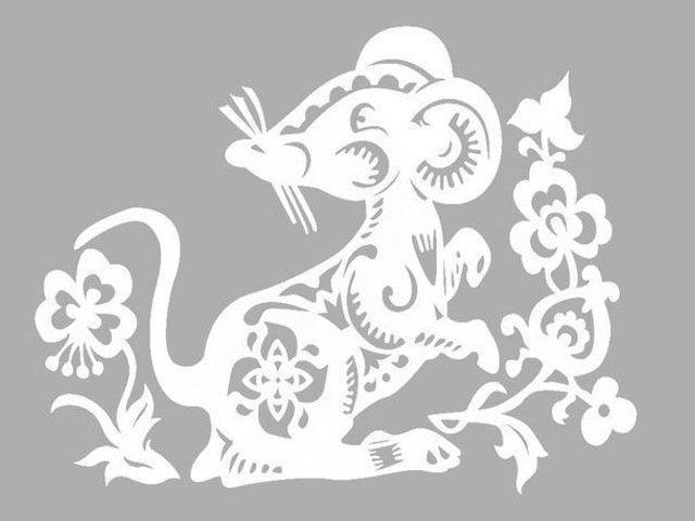 Вытынанки на Новый год 2020: шаблоны для распечатки (Крыса, мышь, домики, Дед мороз и Снегурочка на вытынанках)