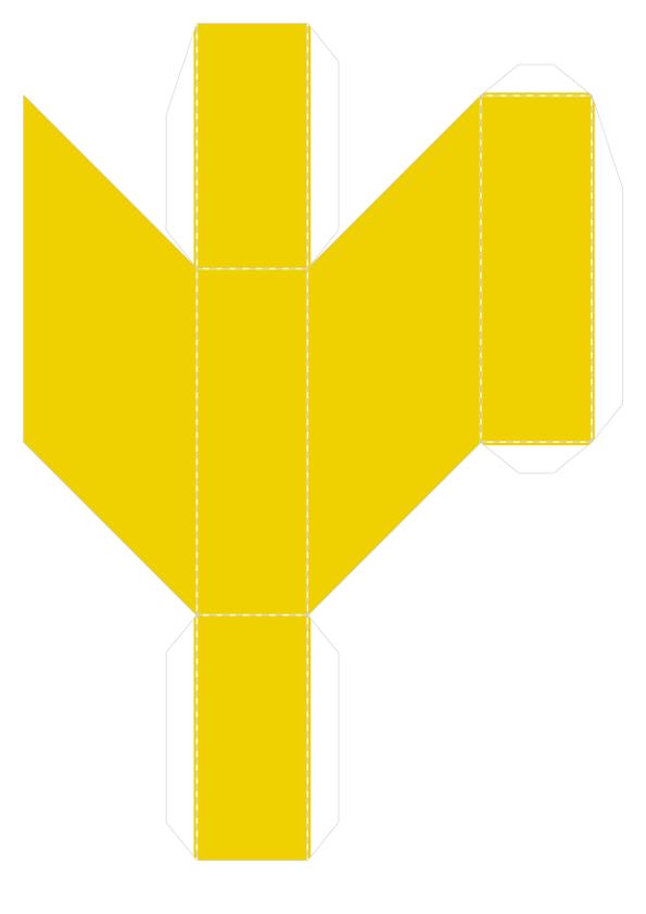 Шаблон объёмного танграма из бумаги для распечатки_7
