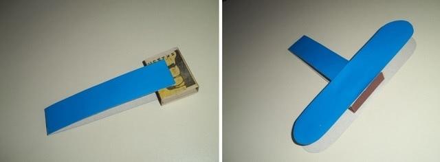 Самолеты из цветной бумаги и спичечных коробков на 23 февраля_3