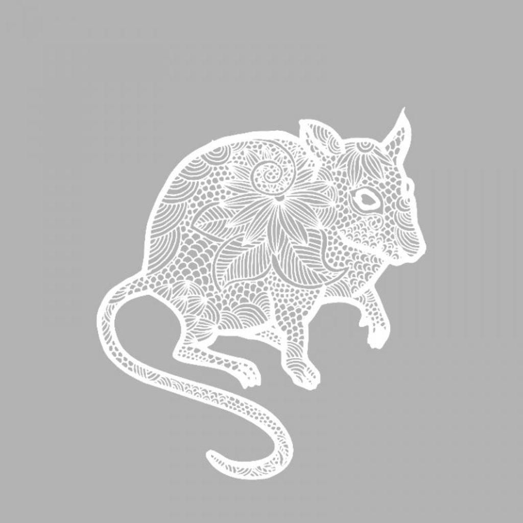 Вытынанки на Новый год 2020: шаблоны крысы и мыши скачать и распечатать-11