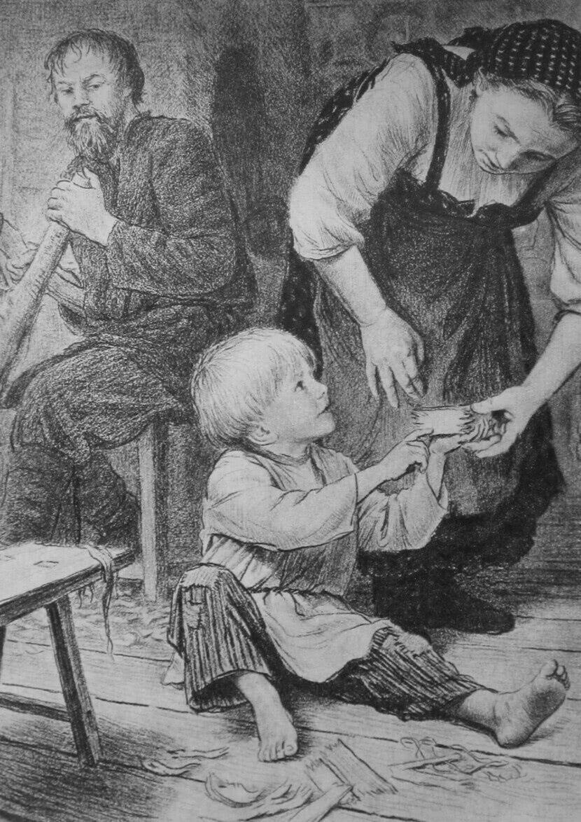 Читать рассказ Ушинский — Дедушка