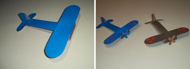 Самолеты из цветной бумаги и спичечных коробков на 23 февраля_4