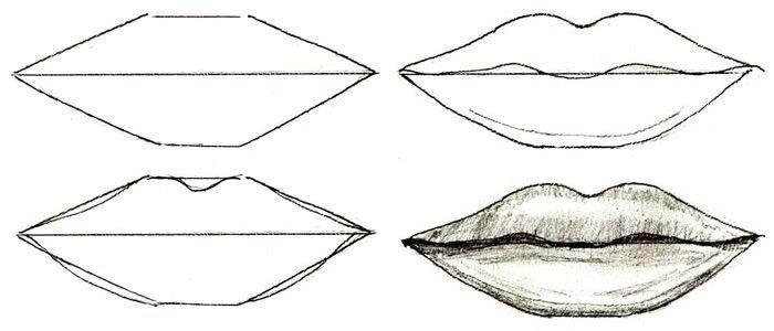 Рисунки губ для срисовки-2
