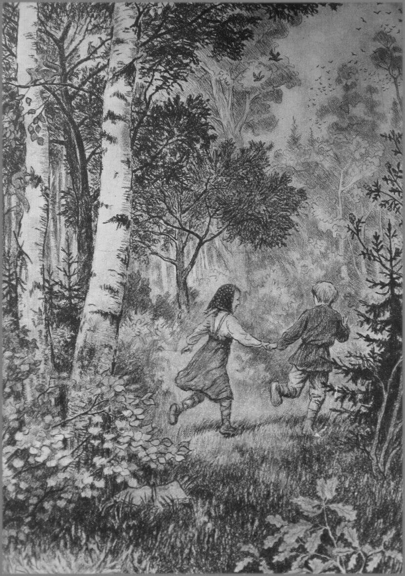 Читать рассказ Ушинский — Дети в роще - 1