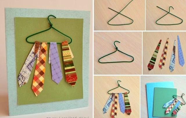 «Открытка с галстуками»: красивая и простая поделка для учеников 1 класса_1