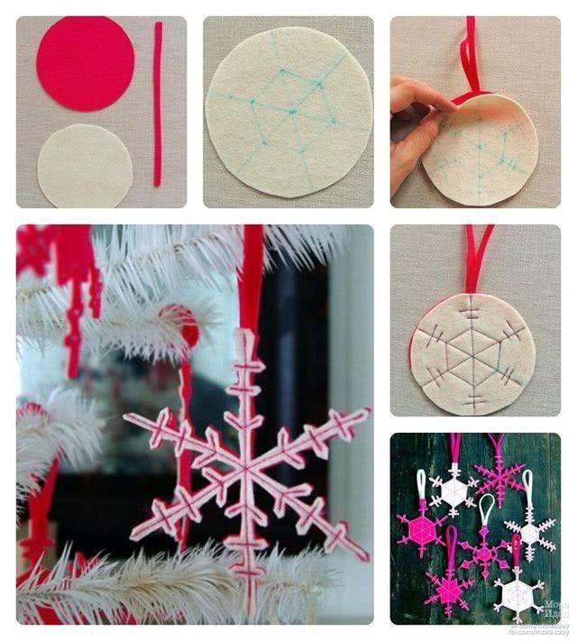 Снежинка из фетра (выкройка-шаблон)-2