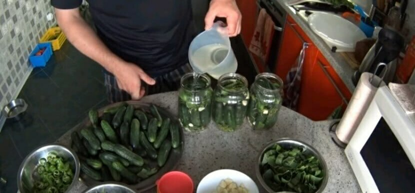 Засолка огурцов холодным способом без уксуса для хранения в квартире, пошагово_2