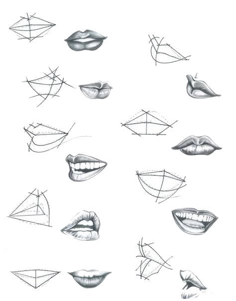 Рисунки губ для срисовки-4
