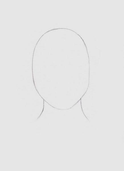 Срисовка портрета карандашом для девочек-1