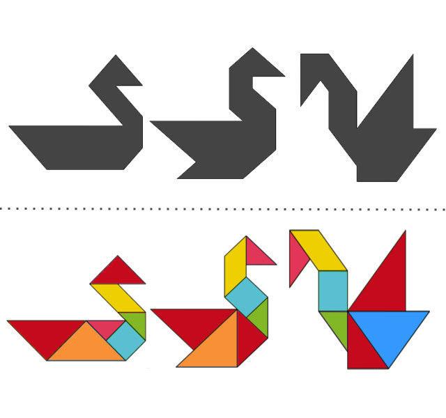 анграм схемы с задачами для дошкольников: утка, гусь и лебедь