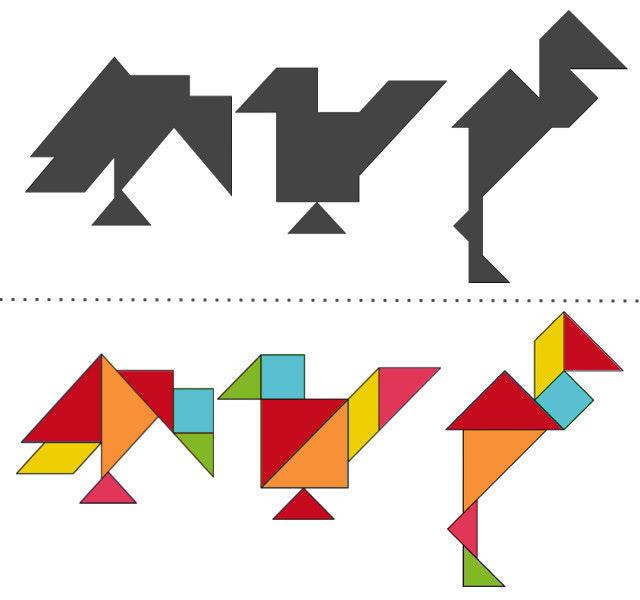 анграм схемы с задачами для дошкольников: ворона, воробей, цапля