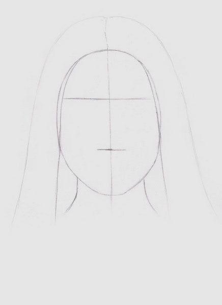 Срисовка портрета карандашом для девочек-3
