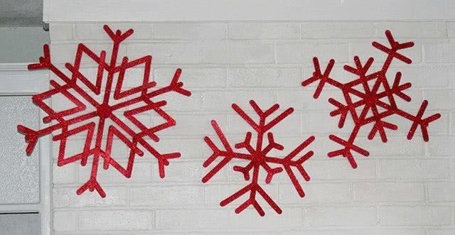 Снежинка из фетра (выкройка-шаблон)-5