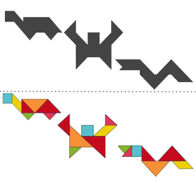 анграм схемы с задачами для дошкольников: черепаха, краб, змея