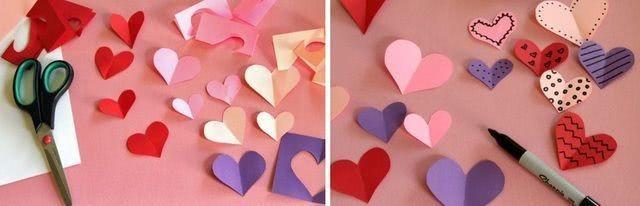 Детская валентинка с букетом сердец_2