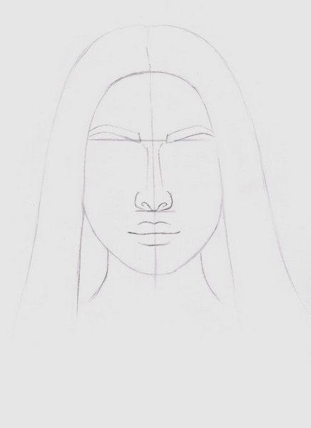 Срисовка портрета карандашом для девочек-4