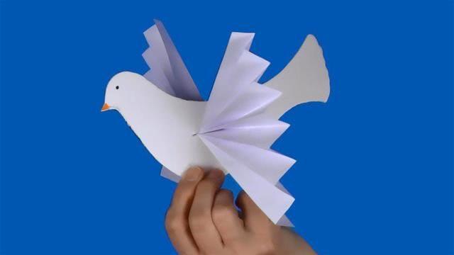 Голубь мира своими руками из бумаги к 9 Мая: шаблон для распечатки