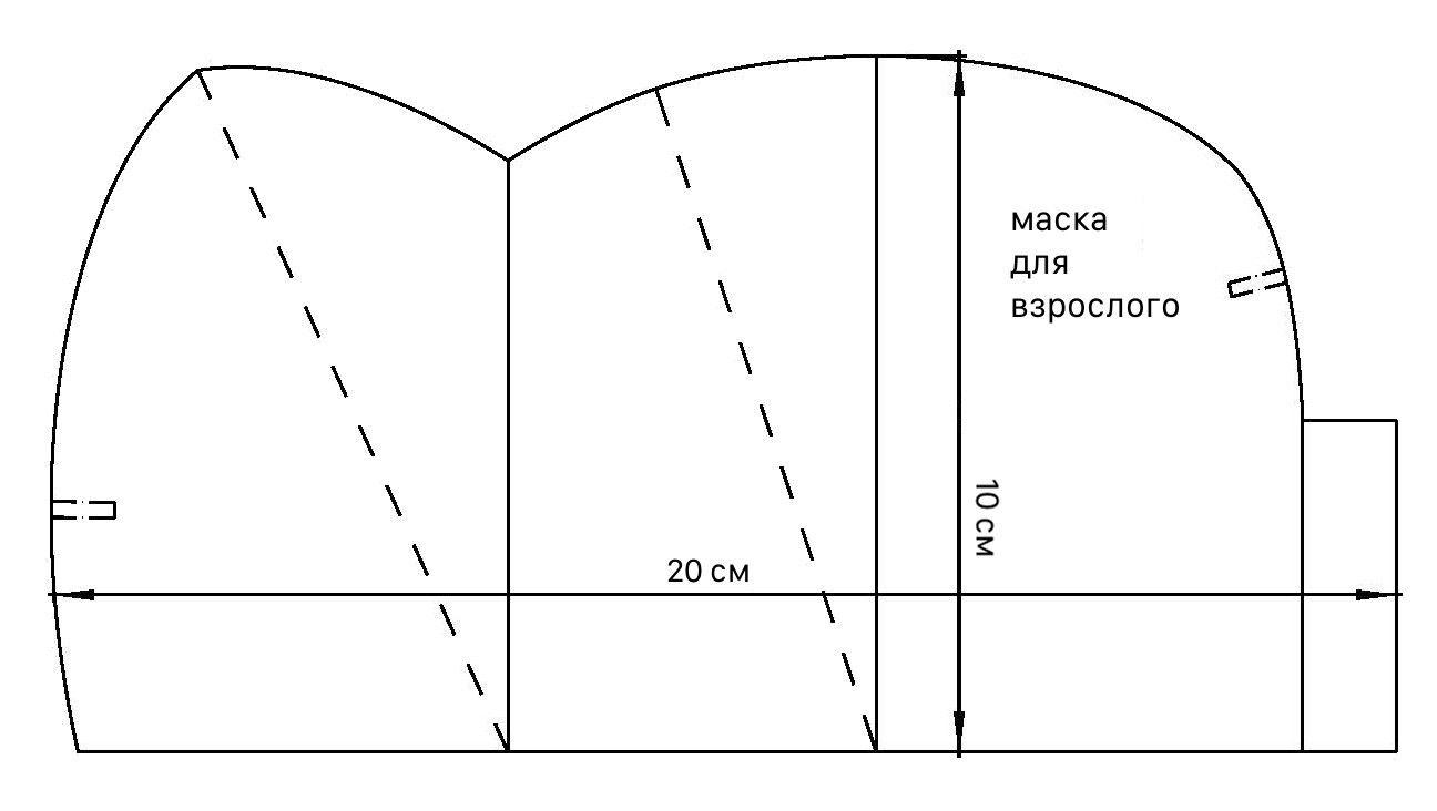 Изготовление маски из HEPA фильтров для защиты от коронавируса пошагово_1