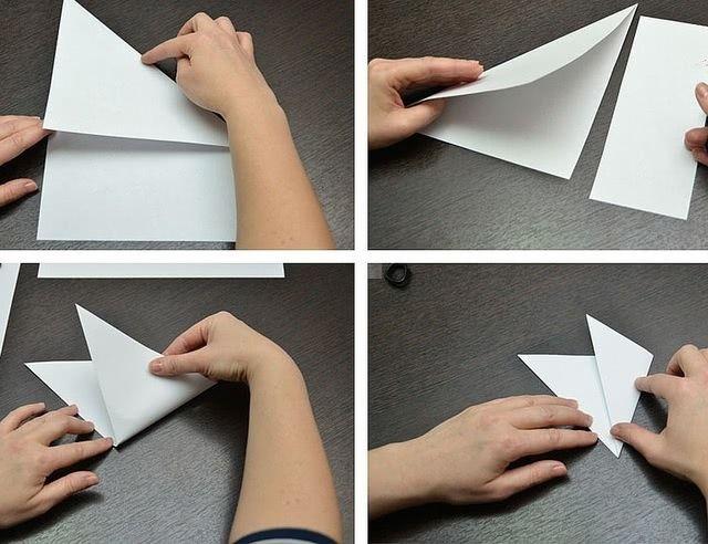 Пошаговый мастер-класс вырезания красивых бумажных снежинок-1