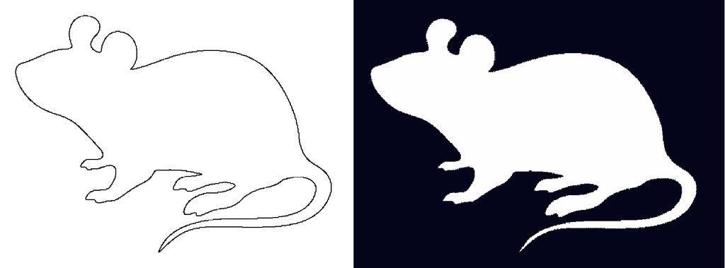 Вытынанки на Новый год 2020: шаблоны крысы и мыши скачать и распечатать-1