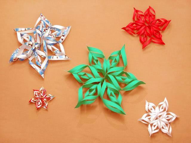 Снежинки своими руками на Новый год из бумаги и других ...
