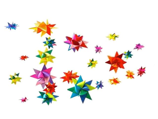 Объемная звезда из бумаги и георгиевской ленты ...