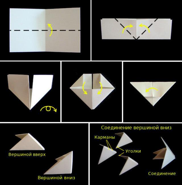 3D яйцо: поделка на пасху в технике оригами_1