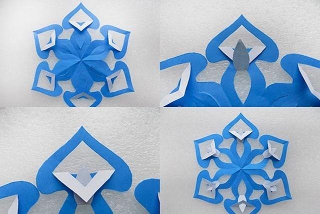 Как вырезать необычную новую снежинку: схема пошагово-4