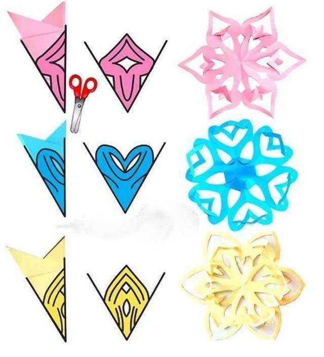 Альтернативные схемы вырезания снежинок в технике киригами-1