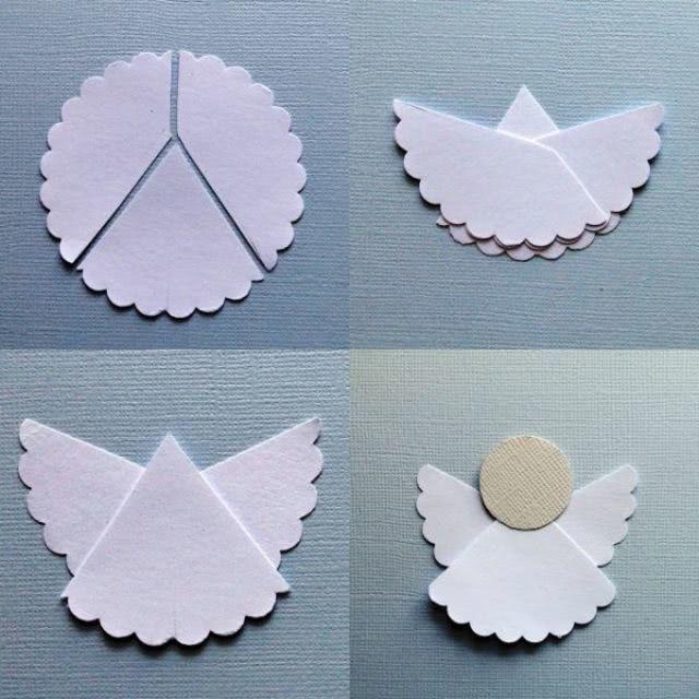 Шаблон рождественского ангела своими руками из бумаги_1
