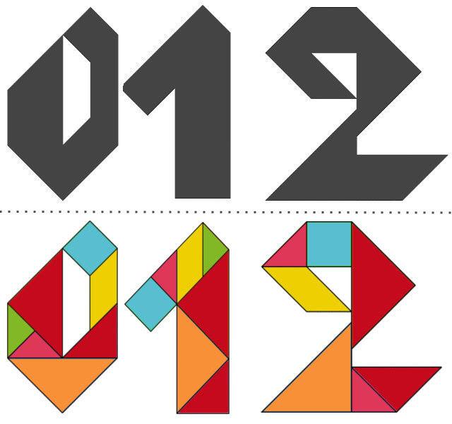Танграм схемы с задачами для дошкольников:цифры_1
