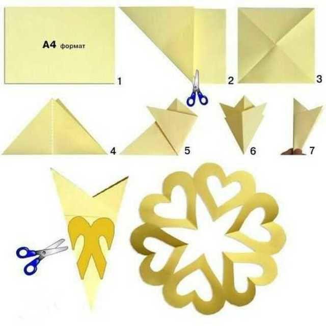 Легкие снежинки из бумаги руками ребенка: мастер-классы для начинающих-1