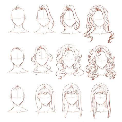 Срисовка портрета карандашом для девочек-9