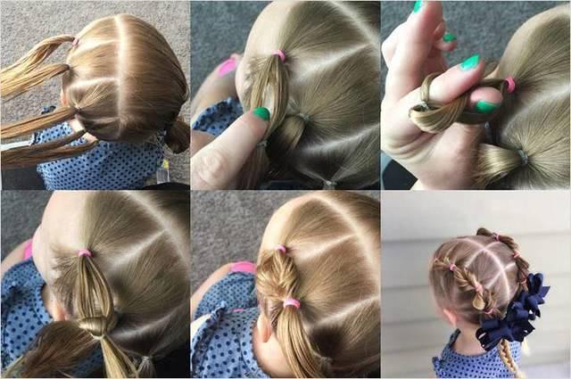 Перекрученные косы из коротких волосы_1