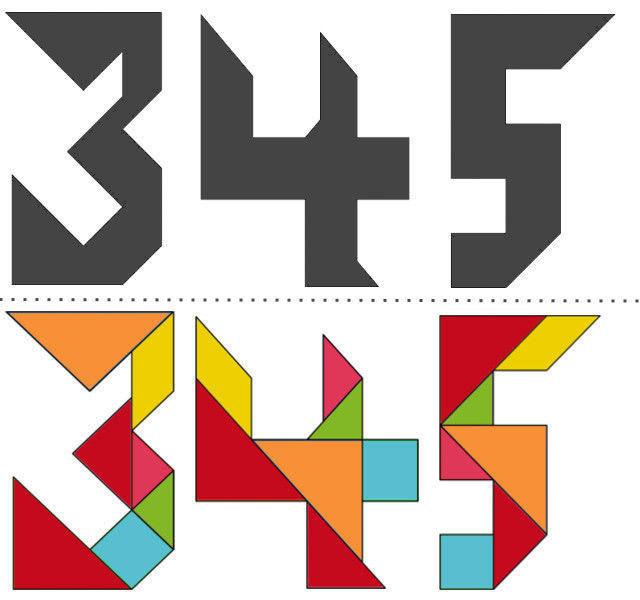Танграм схемы с задачами для дошкольников:цифры_2