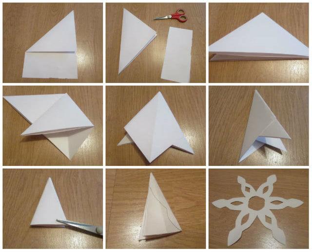 Легкие снежинки из бумаги руками ребенка: мастер-классы для начинающих-2