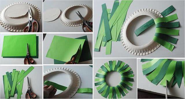 Схема новогоднего венка из бумаги - поделка руками детей_1