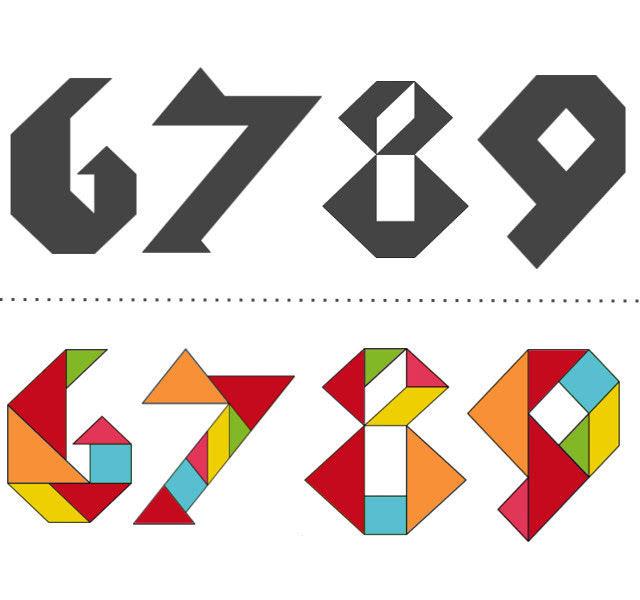Танграм схемы с задачами для дошкольников:цифры_3