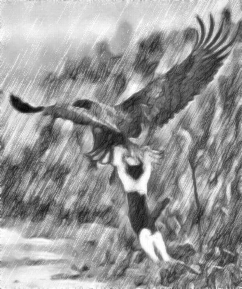 Читать сказку Ушинский — Орёл и кошка