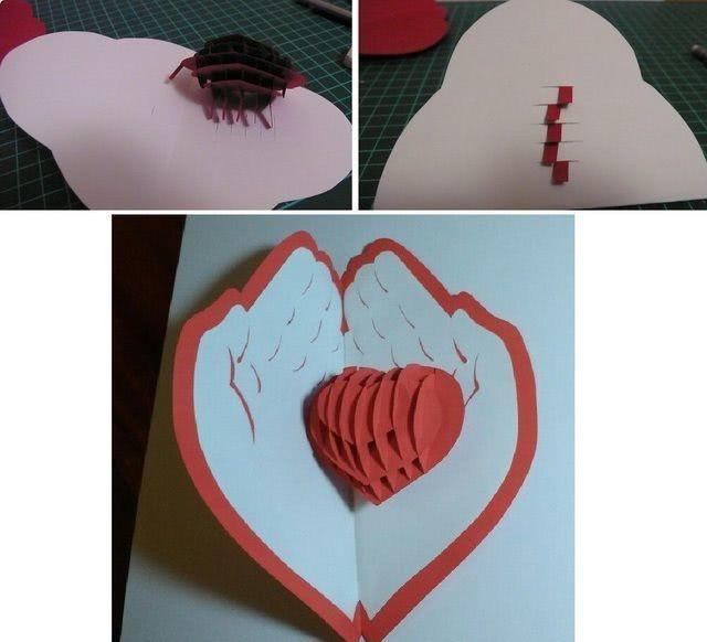Валентинка своими руками из бумаги для детей «Сердце в ладонях»: мастер-класс для ребенка_4