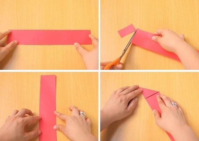 Танк в технике оригами для школьной поделки на 9 мая_1