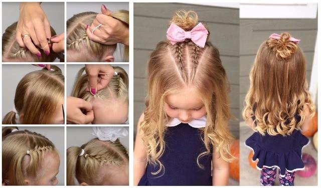 Как еще можно собрать и украсить короткие волосы на выпускной в саду_1
