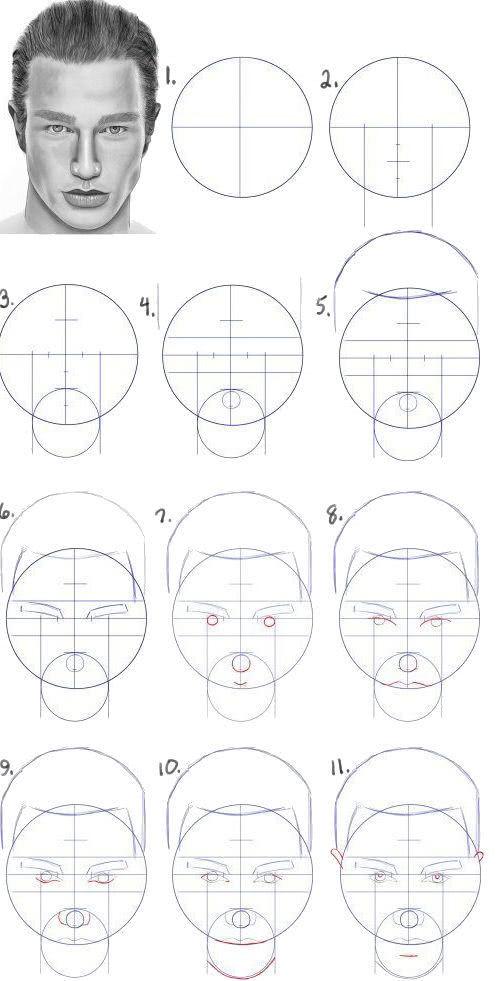 Срисовка портрета карандашом для девочек-11