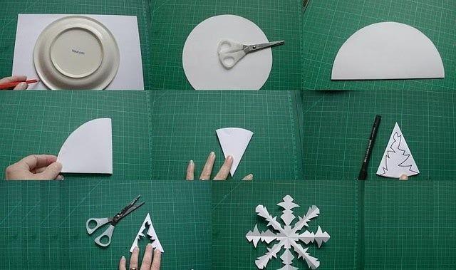 Легкие снежинки из бумаги руками ребенка: мастер-классы для начинающих-4